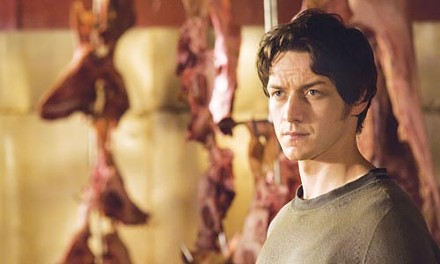 Meat is murder: James McAvoy in training.