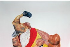 With Muscle-<i>licious!</i>, artist Barbara Weissberger offers something to chew on.