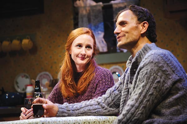 Megan Byrne and Ron Menzel in Outside Mullingar, at City Theatre