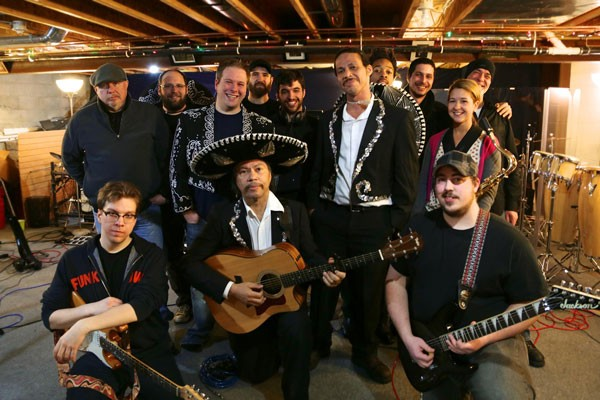 Members of Guaracha, Miguel's Mariachi Fiesta, and the ¡Amigos Live! band.