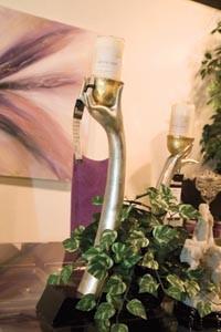 Metal candleholder - BRIAN KALDORF