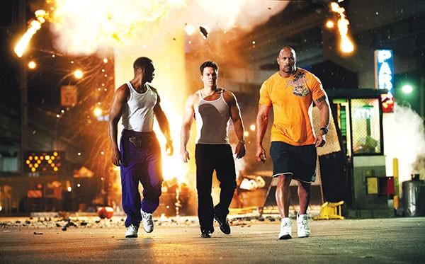 Miami vice: Anthony Mackie, Mark Wahlberg and Dwayne Johnson