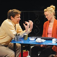 Michael Fuller and Jodi Gage in <i>Becky's New Car</i>, at The REP.