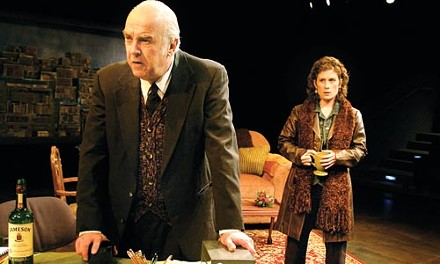 Misery and company: Larry John Myers (left) and Colleen Madden in Dublin Carol. - PHOTO COURTESY OF SUELLEN FITZSIMMONS.
