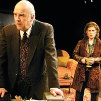 Misery and company: Larry John Myers (left) and Colleen Madden in <i>Dublin Carol</i>.
