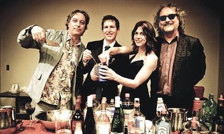 Mixed drinks (from left): Peter Buck, Steve Wynn, Linda Pitmon and Scott McCaughey