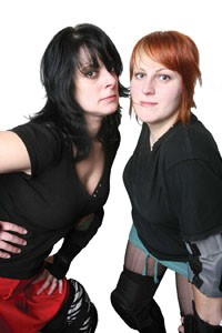 Natalie Gilchrist (Busty Brawler) - and Angela Fischer (Bertha Christ)