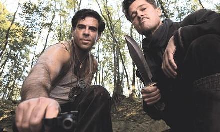 Nazi hunters Eli Roth and Brad Pitt