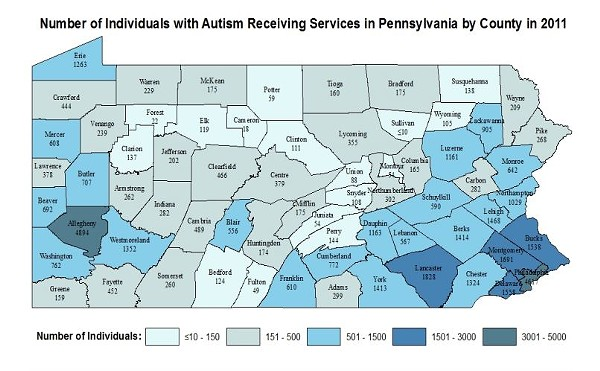 SOURCE: PA 2014 AUTISM CENSUS