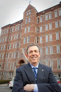 Nick Cafardi, president-elect of Duquesne's faculty senate, says the faculty is being left out of important decisions at the school. - RENEE ROSENSTEEL