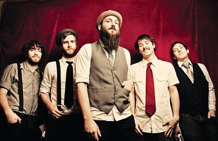 No depression beard: Bear Cub (from left: pianist Dylan White, bassist Rich Condon, singer/guitarist Jesse Hall, former guitarist Charles Rocha, drummer Wes Cramer) - PHOTO COURTESY OF ALLEN CLARK