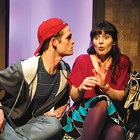 Noah Plomgren and Erika Cuenca in City Theatre's <i>Tigers Be Still</i>.