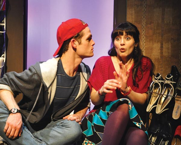 Noah Plomgren and Erika Cuenca in City Theatre's Tigers Be Still.