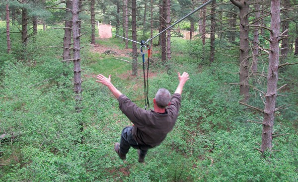 North Park's Go Ape! offers five ziplines, two longer than 400 feet.