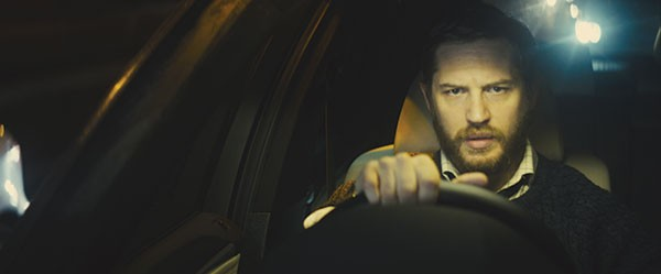 Not quite in the driver's seat: Tom Hardy as Locke