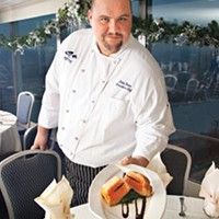 Not your ordinary fish dish: executive chef John Dober with king salmon Wellington, stuffed with black truffles