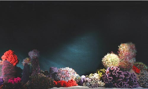 """Oceans endeavor: """"Crochet Hyperbolic Coral Reef,"""" by The Institute for Figuring."""