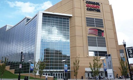 Off Center: Its inhospitable entrances are one reason the CONSOL Energy Center disappoints. - KEVIN SHEPHERD