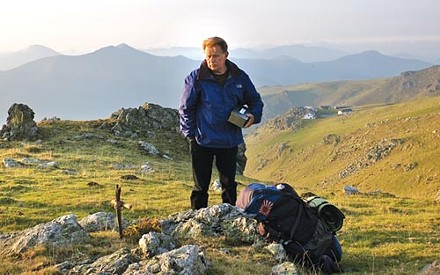One journey ends, another begins: Tom (Martin Sheen), at his son's memorial along the Camino.