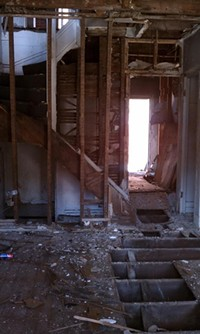 """One of the homes being demolished in the East End's """"killing fields"""" - PHOTO BY LAUREN DALEY"""