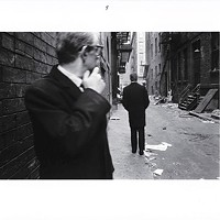 """One of the six images in Duane Michals' 1970 series """"Chance Meeting"""""""