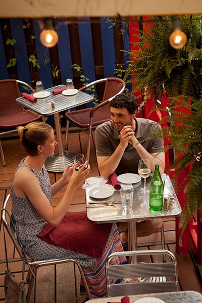 Open Bottle Bistro, dining outside