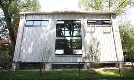 Outside the box: Jeff Walz's Howe Street house, in Shadyside.