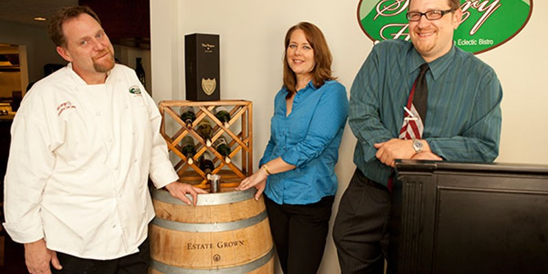 Savory Hill Owners Tom and Mel Langan with general manager Terry Menear Photo by Heather Mull