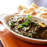 Biryani Palak paneer Photo by Heather Mull