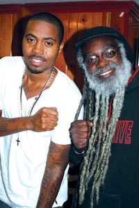 Paradise in Pittsburgh: Nas and Paradise Gray at Mr. Small's Theatre, 2010. - COURTESY ONE HOOD MEDIA