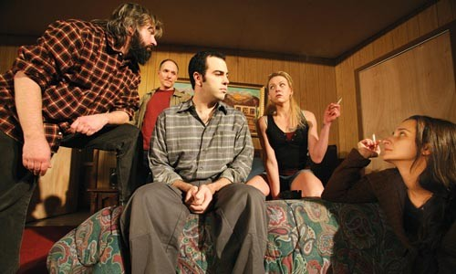 Paranoia strikes deep: the cast of Bug includes (from left to right) David Cabot, Ken Bolden, Patrick Jordan, Lissa Brennan and Miki Johnson.