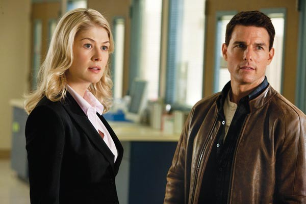 Partners in crime-solving: Rosamund Pilcher and Tom Cruise