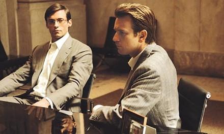 Partners in sexy-time crime: Hugh Jackman and Ewan McGregor