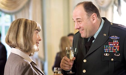 Party politics: Mimi Kennedy and James Gandolfini