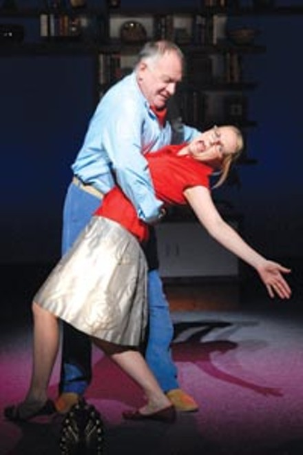 Pas de deux (or more): Ross Bickell (left) and Tami Dixon in City Theatre's A Marriage Minuet.