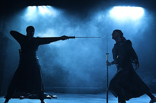 Patrick Jordan (left) and David Whalen in Macbeth