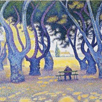 "Paul Signac's oil-on-canvas painting ""Place des Lices, St. Tropez"" (1893)"
