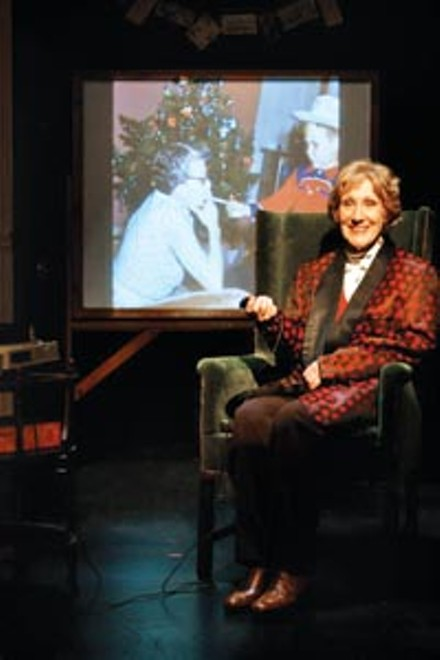 Peggy Roeder in A Kodachrome Christmas, at City Theatre. Photo courtesy of Suellen Fitzsimmons.