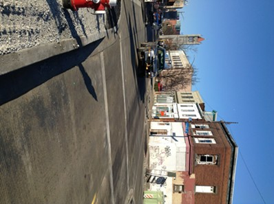 Penn Avenue between Mathilda and Evaline streets re-opened to two-way traffic this morning. - PHOTO BY AL HOFF