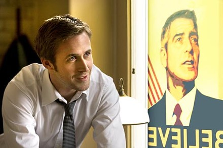 Personal politics: Stephen (Ryan Gosling) wants to believe.