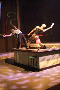Peter Kope (left) and Dane Toney in Attack Theatre's Site/Re-site - COURTESY OF JONATHAN GREENE
