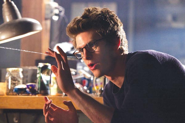Peter Parker (Andrew Garfield) gets his web on.