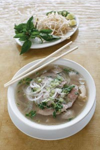 Pho dac biet, a beef noodle soup with flank, brisket and tripe - HEATHER MULL