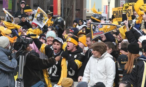 Photo from the Steelers' 2006 Super Bowl victory parade - HEATHER MULL