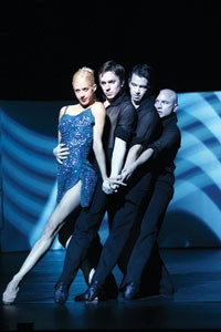 Piano barre: The Sydney Dance Company performs Grand. Photo by Jeff Busby.