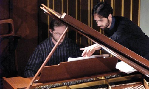 Piano men: Matthew Gillespie and Federico Garcia