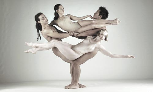 Pilobolus: sculpture with people. - PHOTO COURTESY OF JOHN KANE
