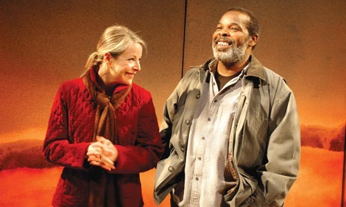 Plane truths: Tasha Lawrence (left) and Ray Anthony Thomas. - PHOTO BY SUELLEN FITZSIMMONS