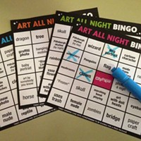 Play Art Bingo at Lawrenceville's Art All Night