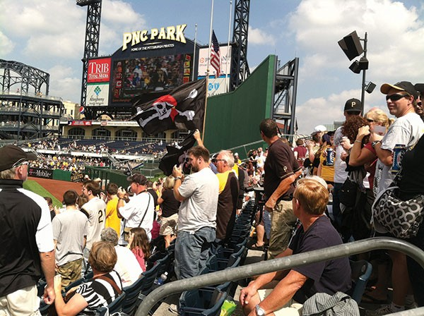 PNC Park crowd at Pittsburgh Pirate game